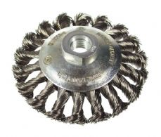 Tapered wire brush wheel. M14 thread / Stainless Steel